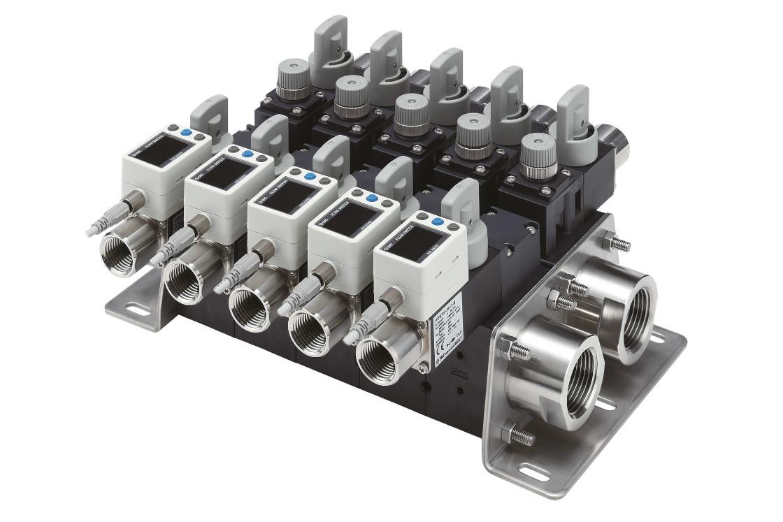 modulare Durchflusssensoren der Serie PF3W von SMC