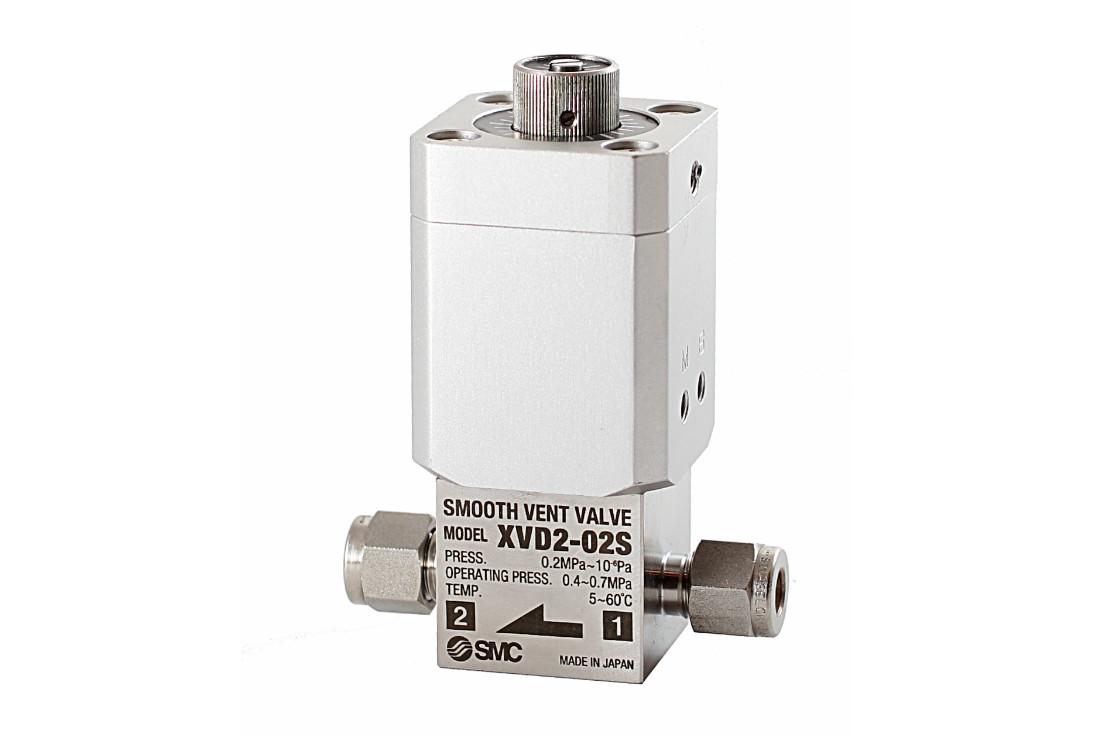 Hochvakuumkammer belüften mit dem HV-Bypassventil von SMC