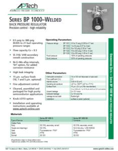 SerieS BP 1000–Welded